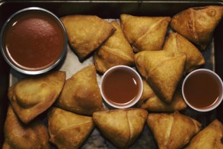 Samosas; photo from Cincinnati Refined