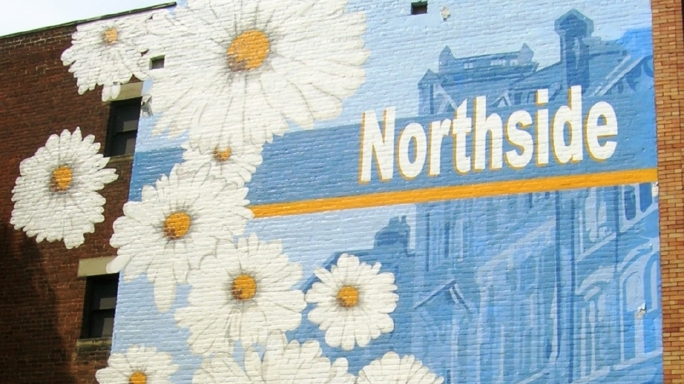 Northside Blooms mural, photo by Ericka McIntyre